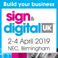 Sign and Digital UK 2019 Banner